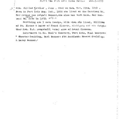 William Mettler Obituary