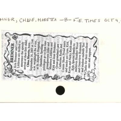 birthnoticechloebremner.pdf