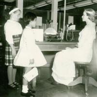 Two Girls in the Horton Steel Office